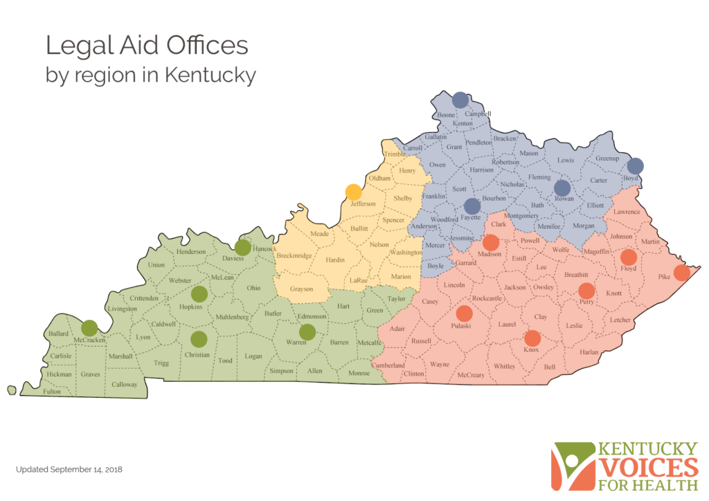 Map of Legal Aid Locations
